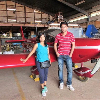 Posing with the most good looking aircraft in the Hanger