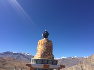 Lord Buddha facing the mountains at Langza