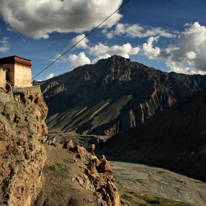 Steps to Dhankar Gompa (Pic Source: Spiti@IncredibleSpiti.com)