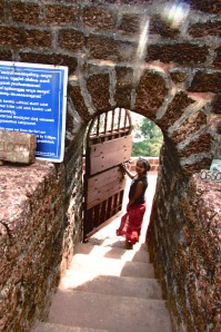 Pic 6: A gate leading to the winding pathway set around the periphery of the fort