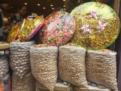 Dotted with stalls of dry fruits