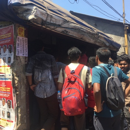 The Nannari Sharbat stall